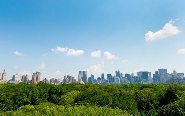 Man Made City Cities Central Park Manhattan New York HD Wallpaper | Background Image