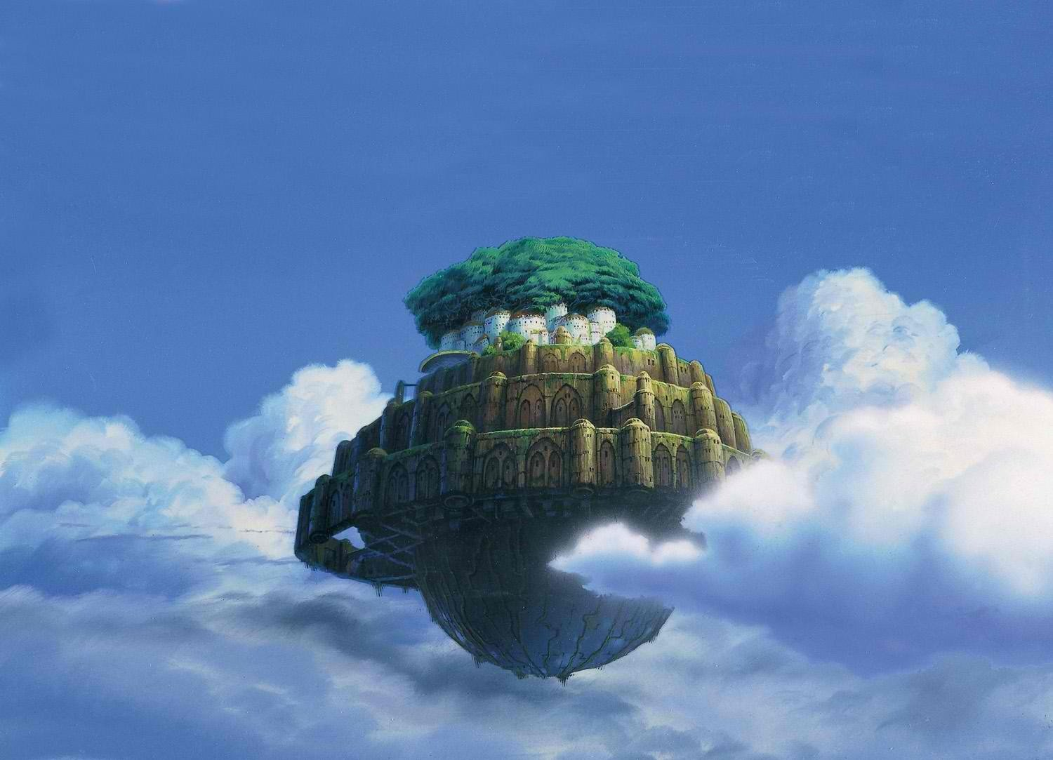 92 Laputa Castle In The Sky Hd Wallpapers Background Images