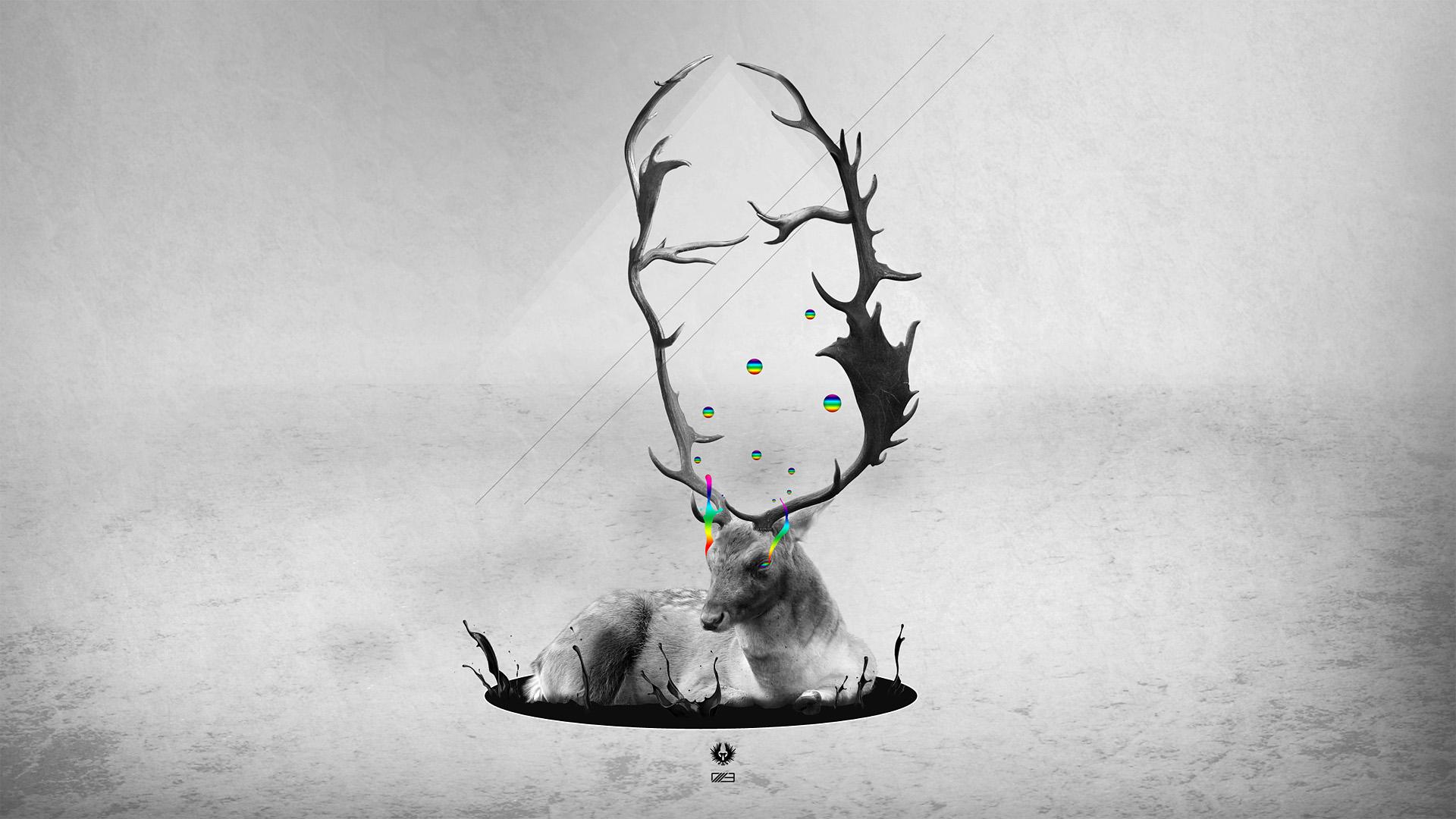 Artistic - Psychedelic  - Elk Wallpaper