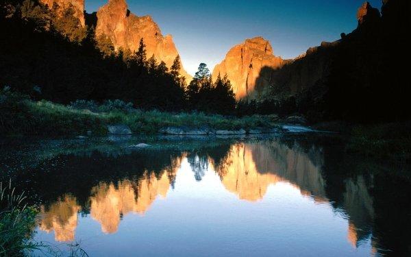 Tierra/Naturaleza Reflejo Lago Montaña Fondo de pantalla HD | Fondo de Escritorio