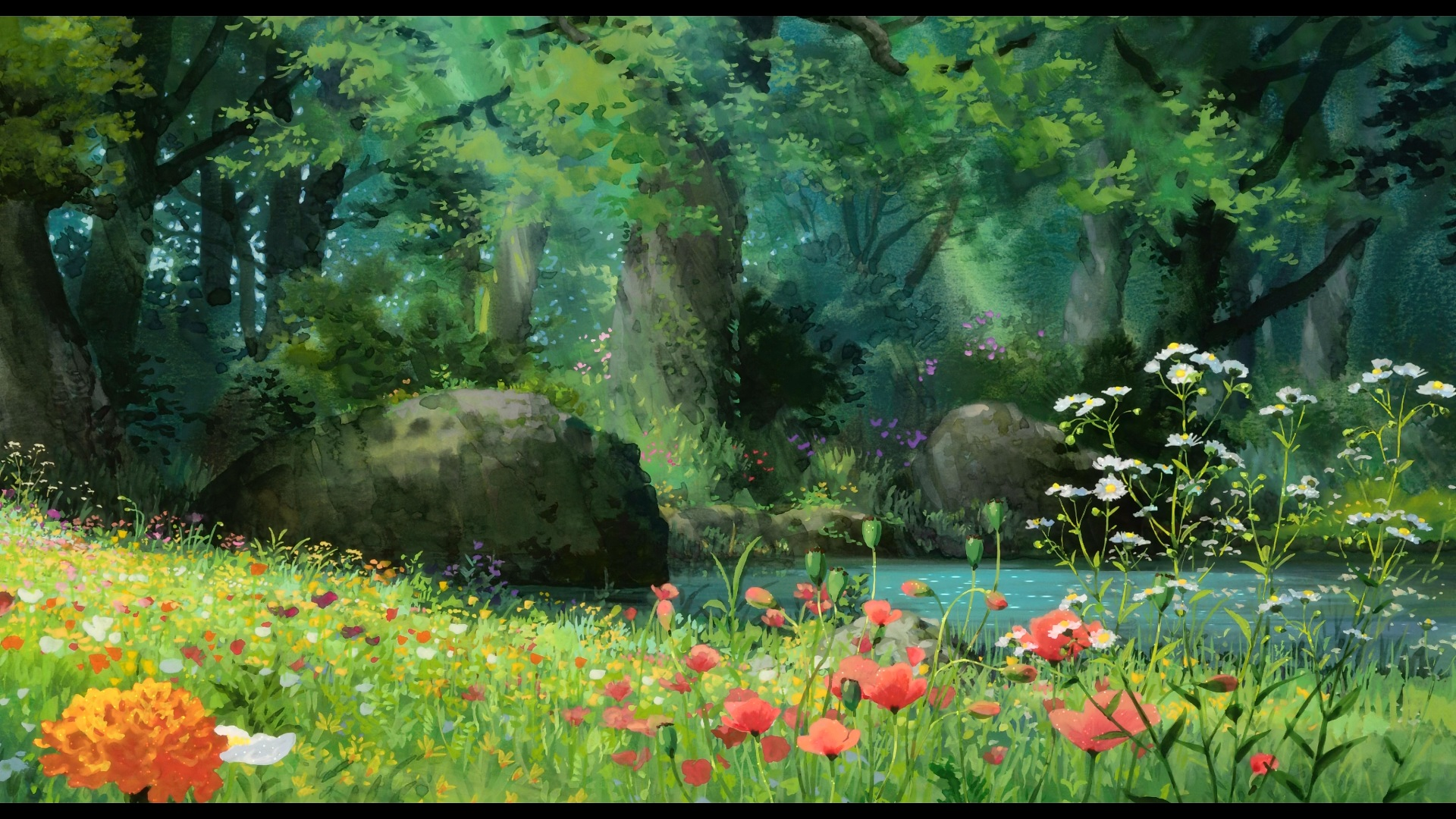 Scenic full hd wallpaper and background image 1920x1080 - Anime scenery wallpaper laptop ...