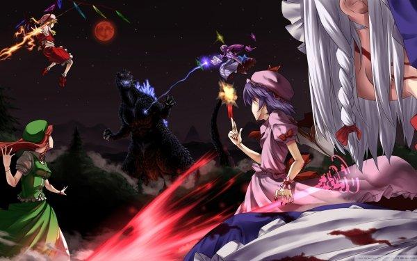 Anime Touhou Flandre Scarlet Remilia Scarlet Patchouli Knowledge Sakuya Izayoi Hong Meiling HD Wallpaper | Background Image