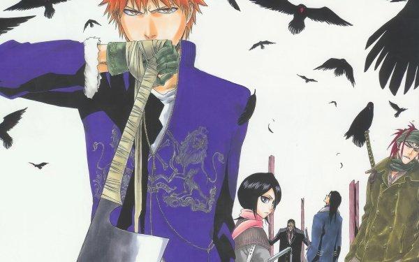 Anime Bleach Ichigo Kurosaki Renji Abarai Rukia Kuchiki Byakuya Kuchiki Kenpachi Zaraki Fondo de pantalla HD | Fondo de Escritorio