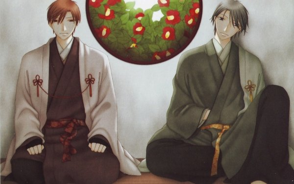 Anime Fruits Basket Shigure Sohma Kimono Kureno Sohma Camellia HD Wallpaper | Background Image