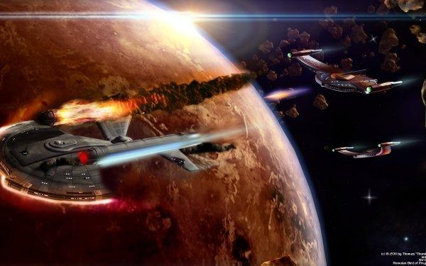 Sci Fi Star Trek Space Bird Of Prey Enterprise HD Wallpaper | Background Image