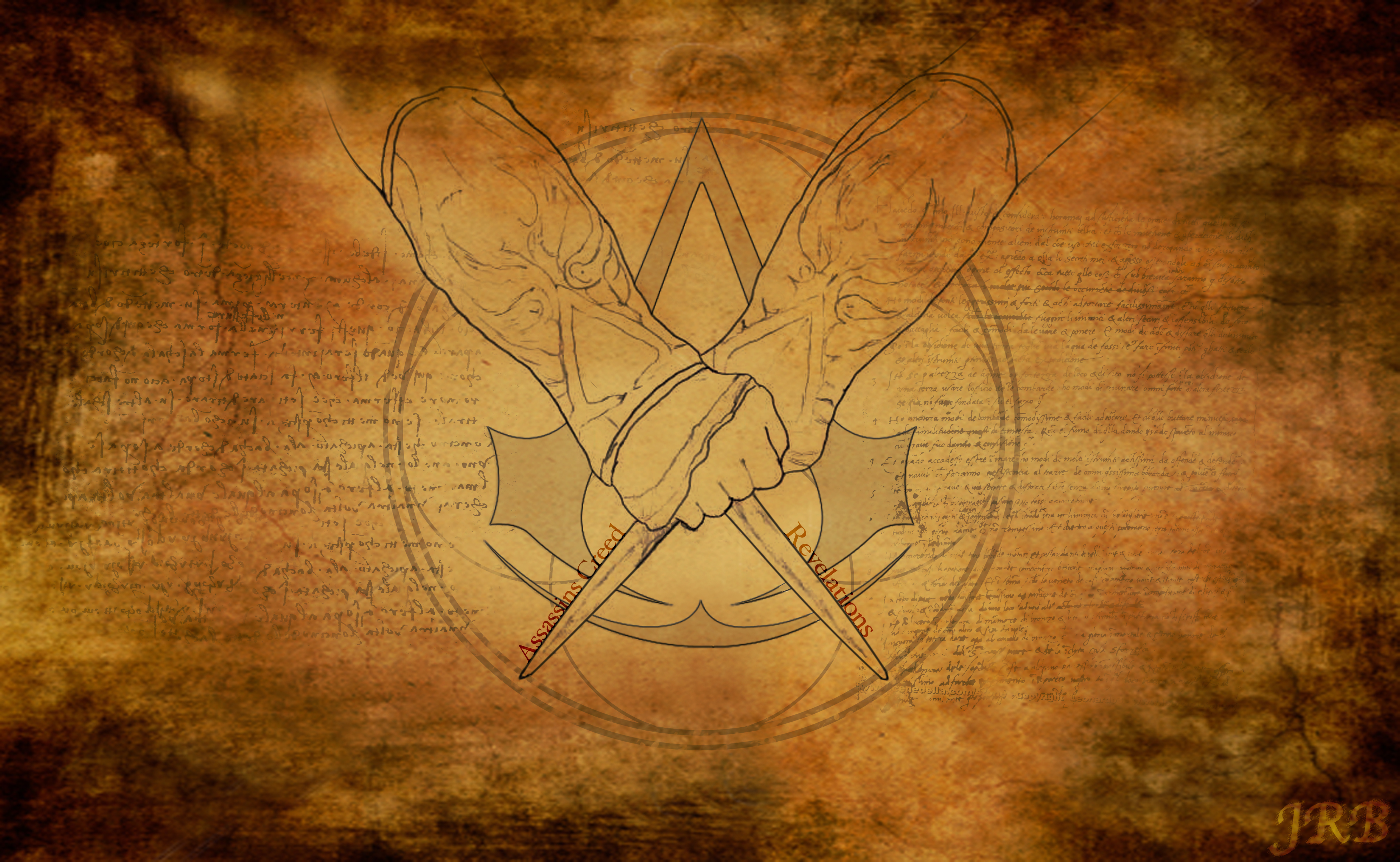 Video Game - Assassin's Creed - Assassins Creed - Outline - Parchment ...