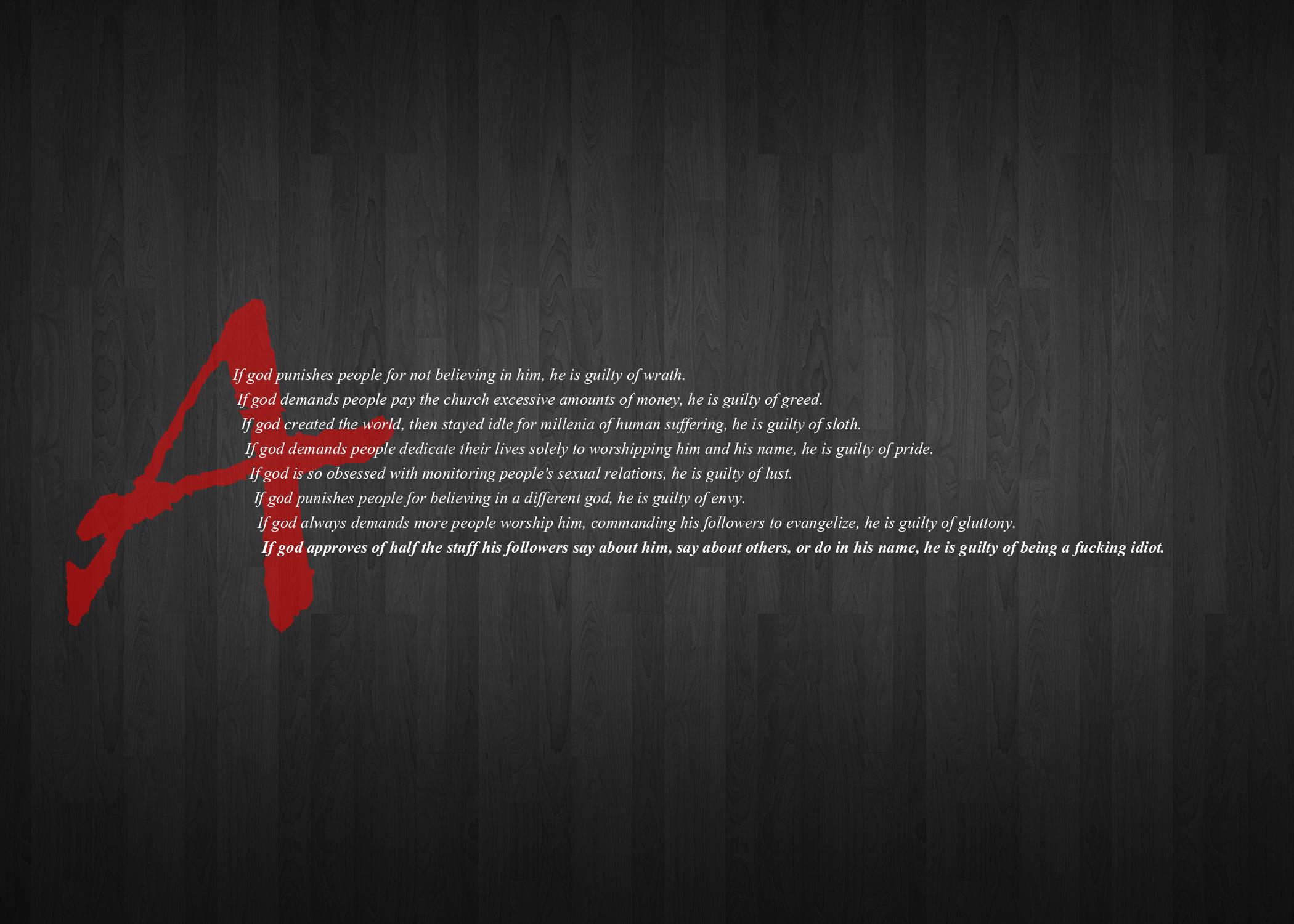 Atheism computer wallpapers desktop backgrounds 2100x1500 - Atheist desktop wallpaper ...