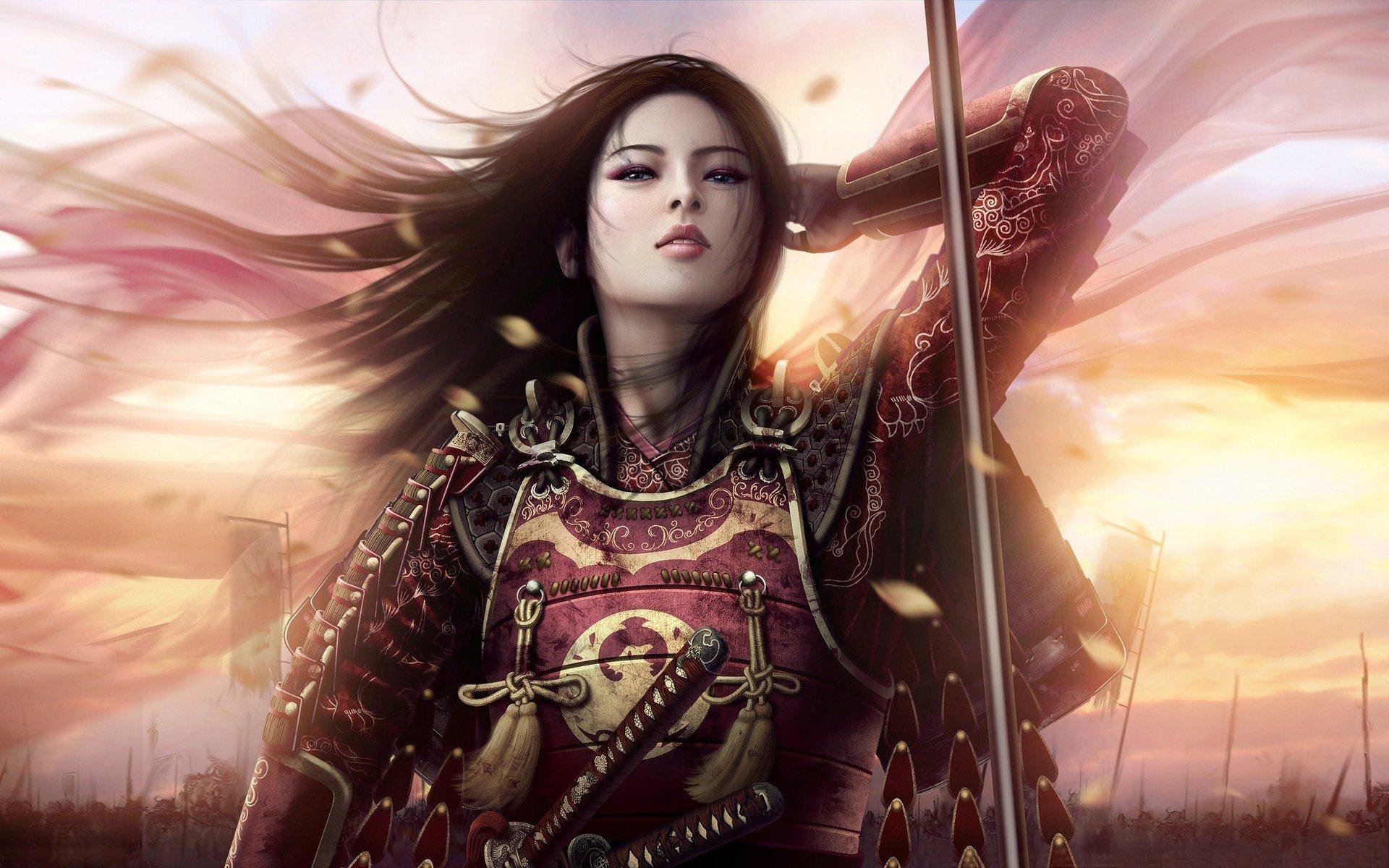 Fantasy - Legend Of The Five Rings  Dark Warrior Asian Cute Samurai Wallpaper