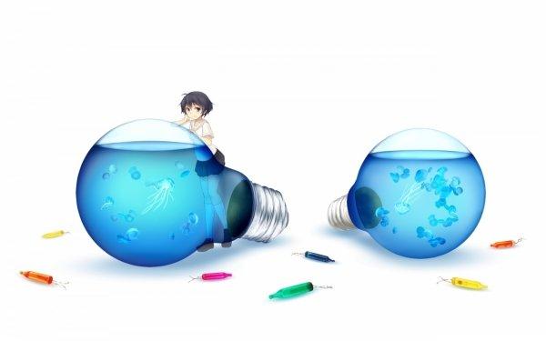 Anime Girl Original Light Bulb HD Wallpaper | Background Image