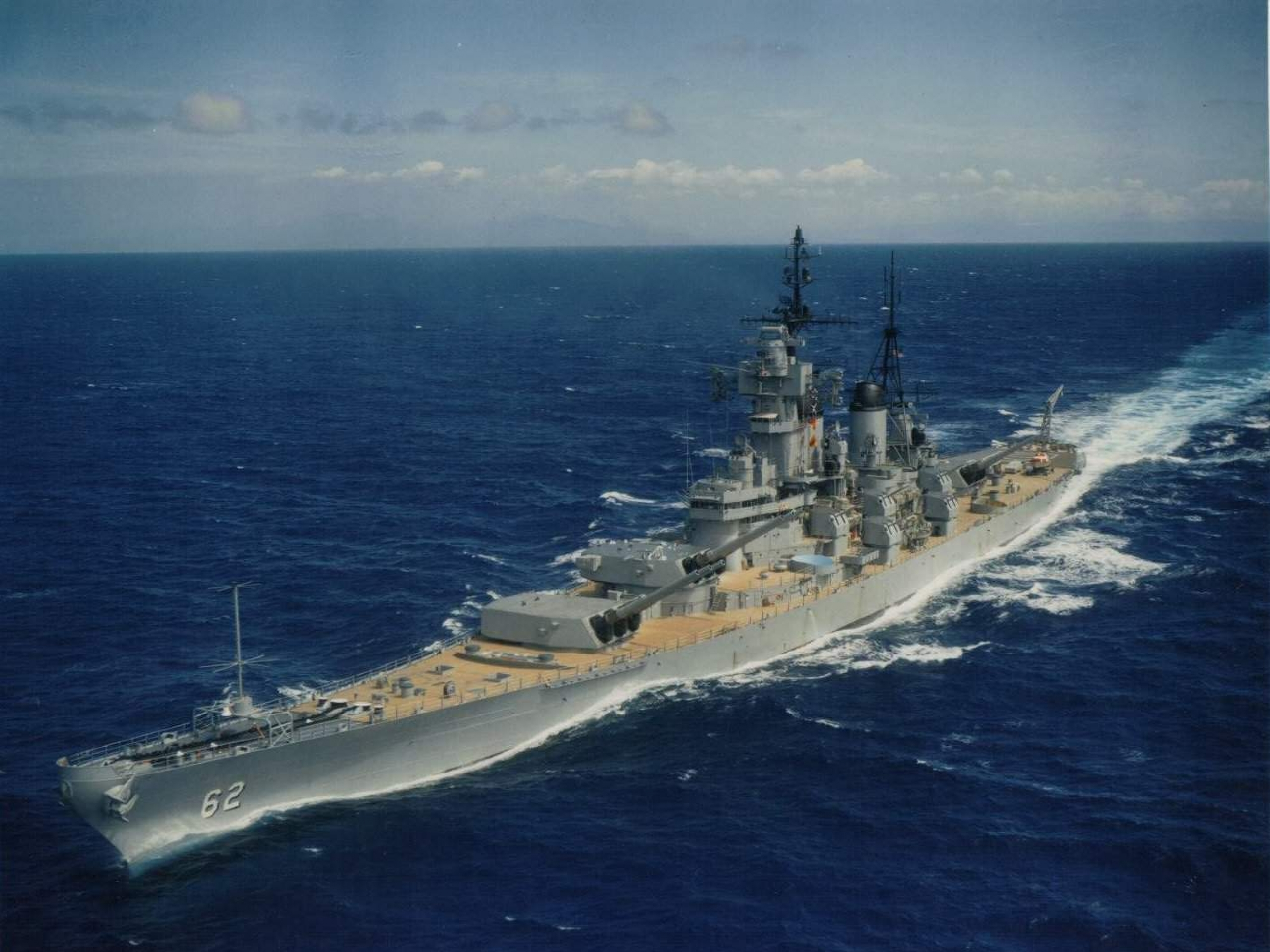 uss new jersey (bb-62) full hd wallpaper and background image