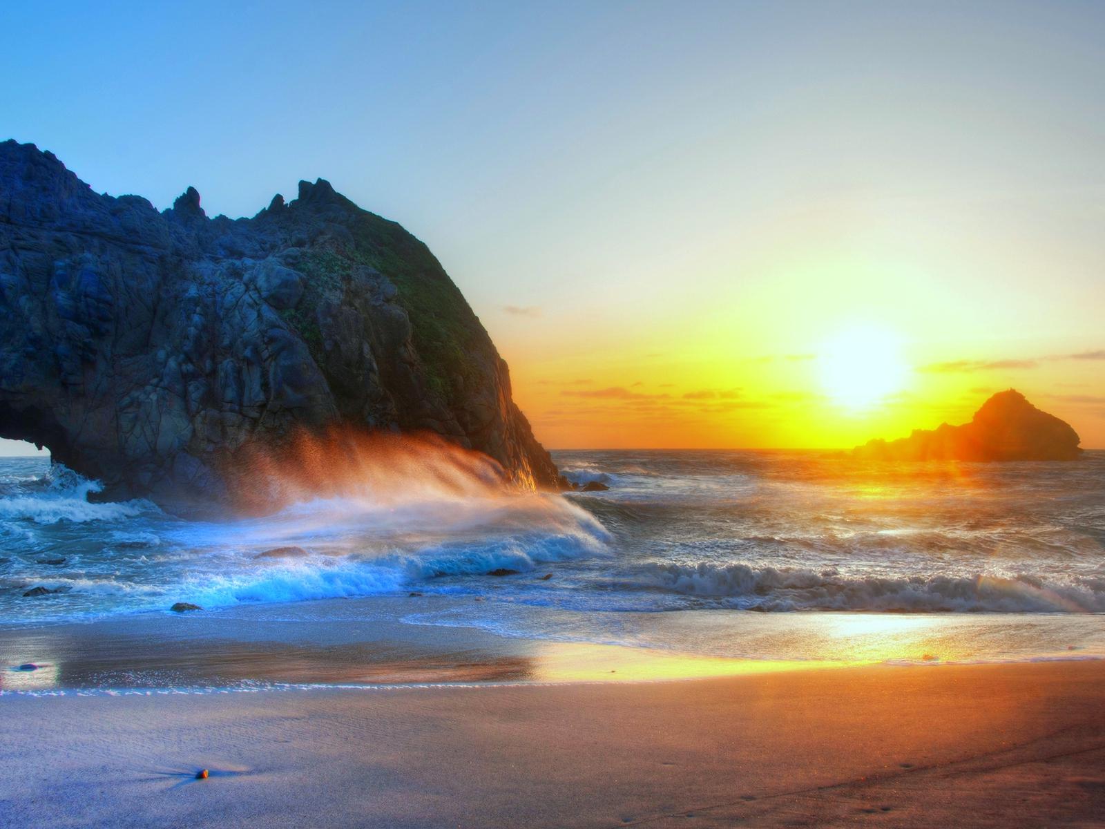 sunset beach 1600x1200 wallpaperssunset - photo #5