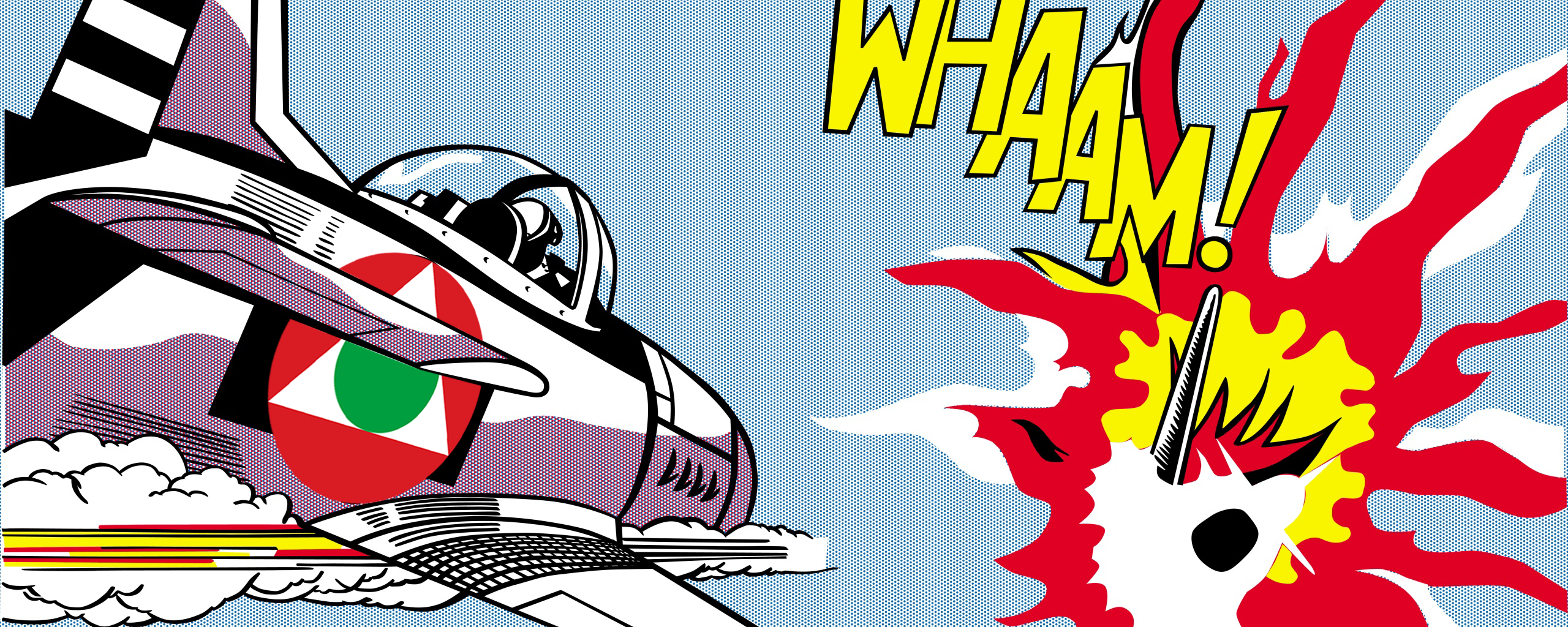 Whaam 1963 By Pop Artist Roy Lichtenstein Wallpaper And