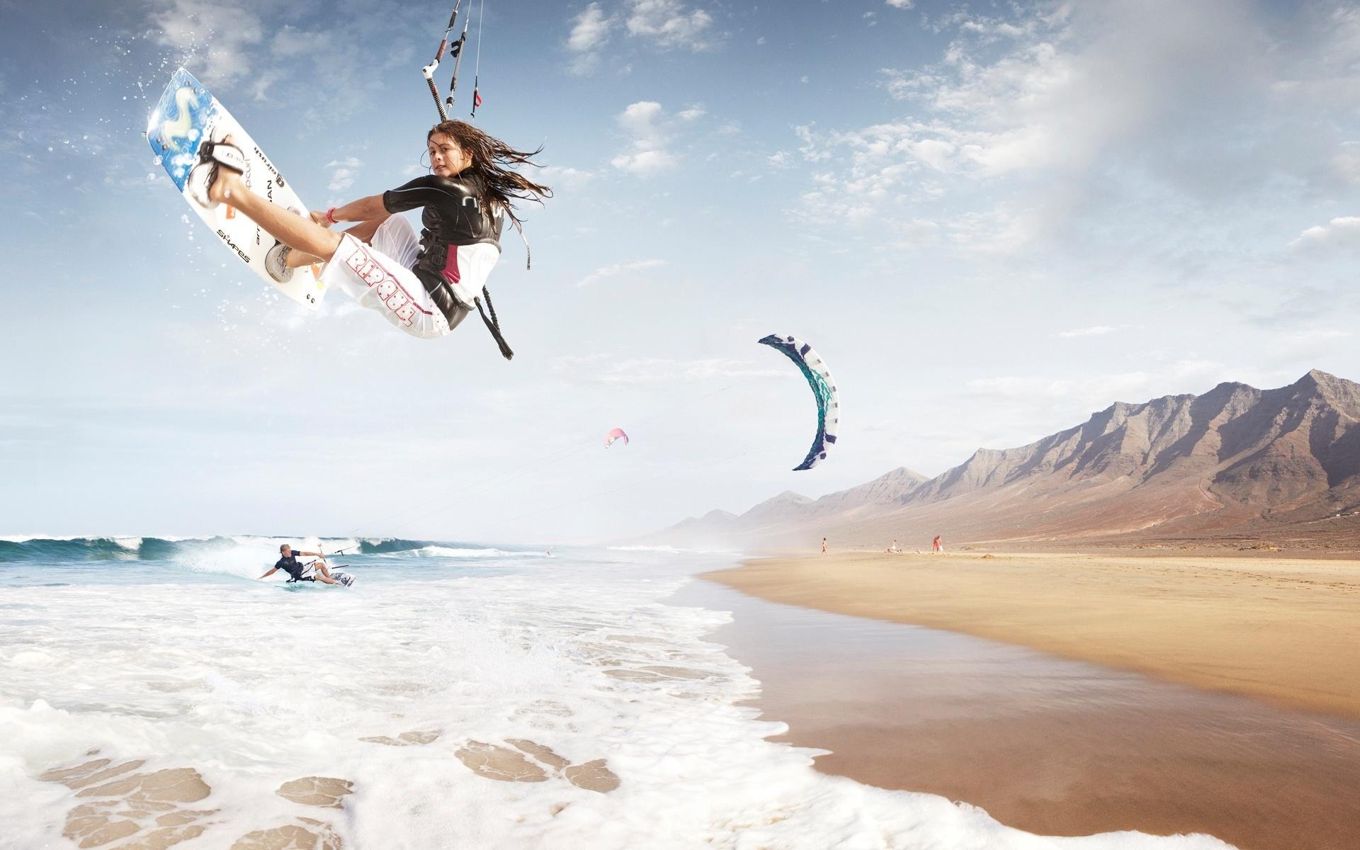 Summer Sports Wallpap: Kitesurfing HD Wallpaper