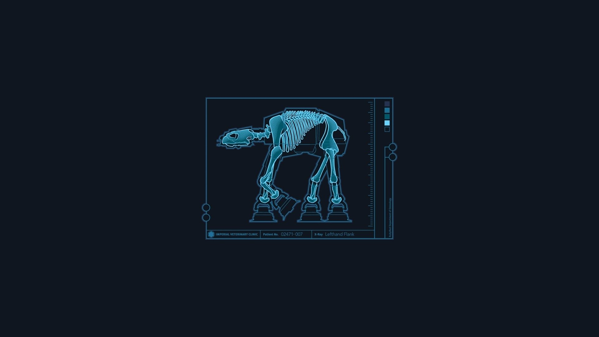 Sci Fi - Star Wars  Humor Funny AT-AT Walker X-Ray Wallpaper