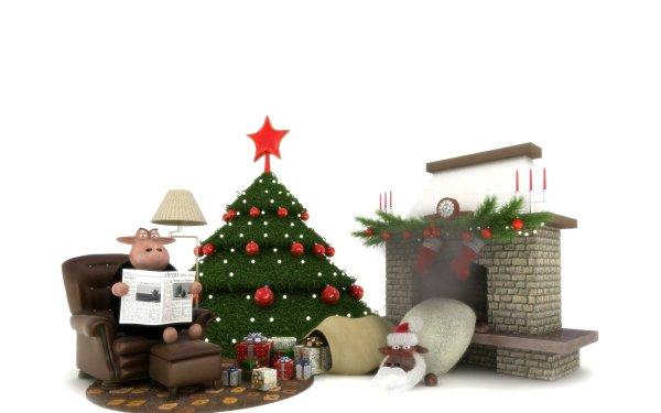 Holiday Christmas Sheep Humor Christmas Tree HD Wallpaper   Background Image