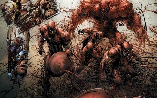 Comics Los Vengadores Wolverine Thing Capitan América Hulk Fondo de pantalla HD | Fondo de Escritorio