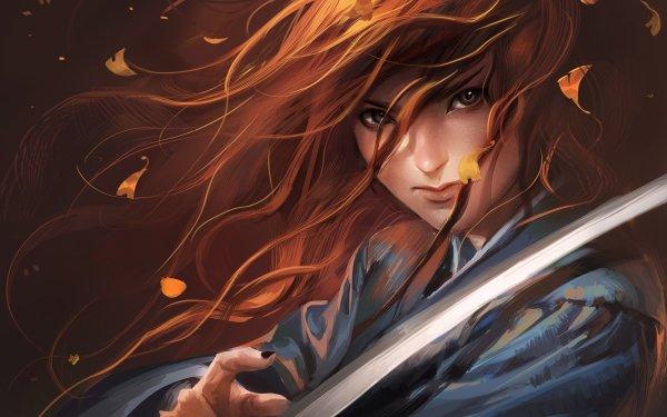 Fantasy Women Warrior Sword HD Wallpaper | Background Image