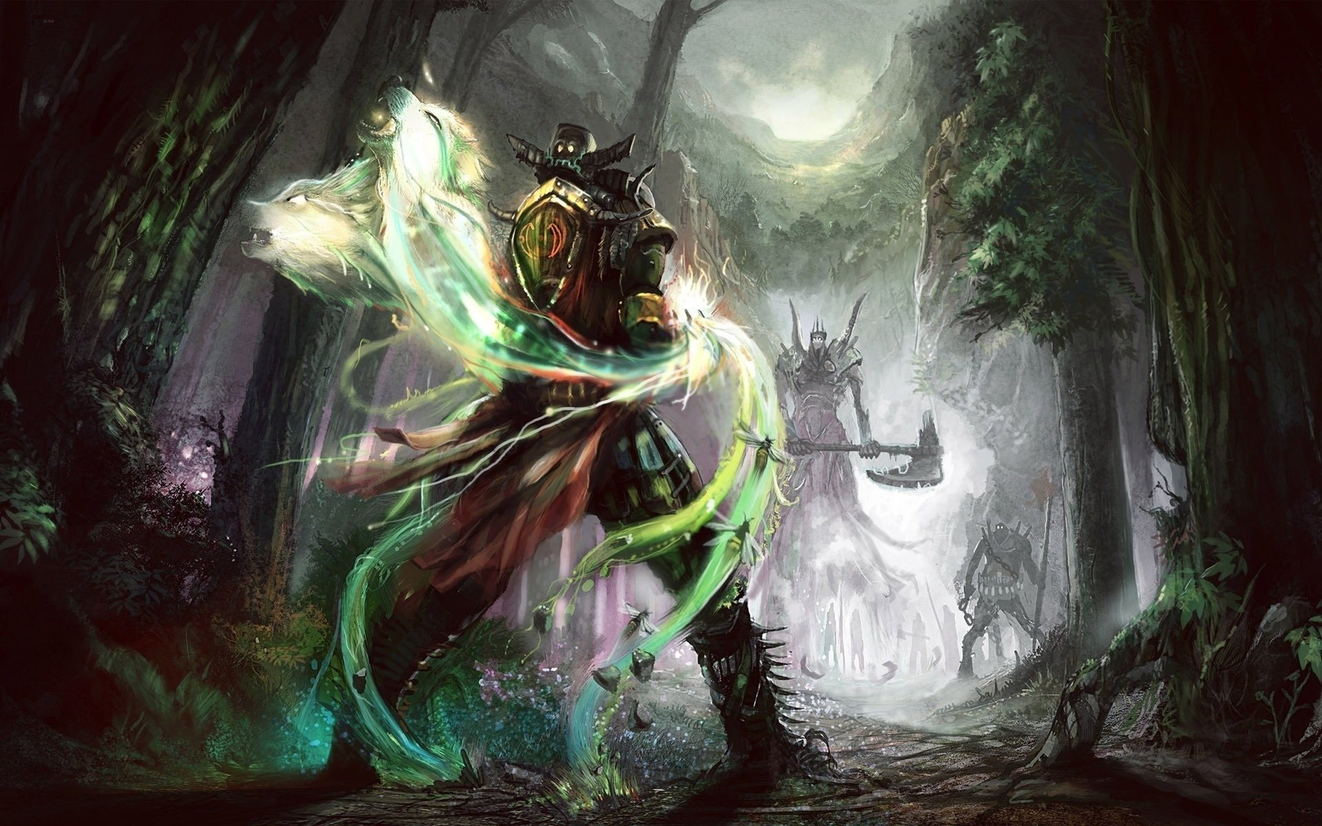Fantasy - Battle  Warrior Knight Fantasy Wallpaper
