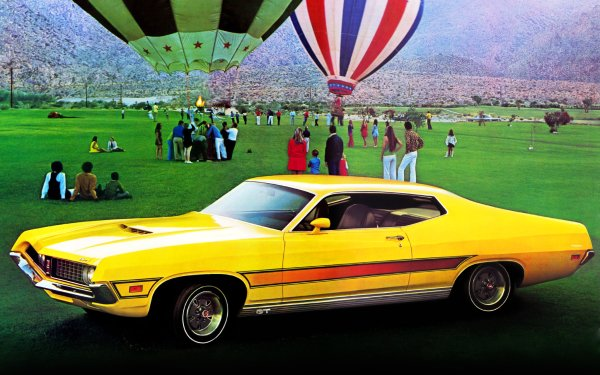 Vehicles Ford Ford Torino Cobra Balloon People HD Wallpaper   Background Image