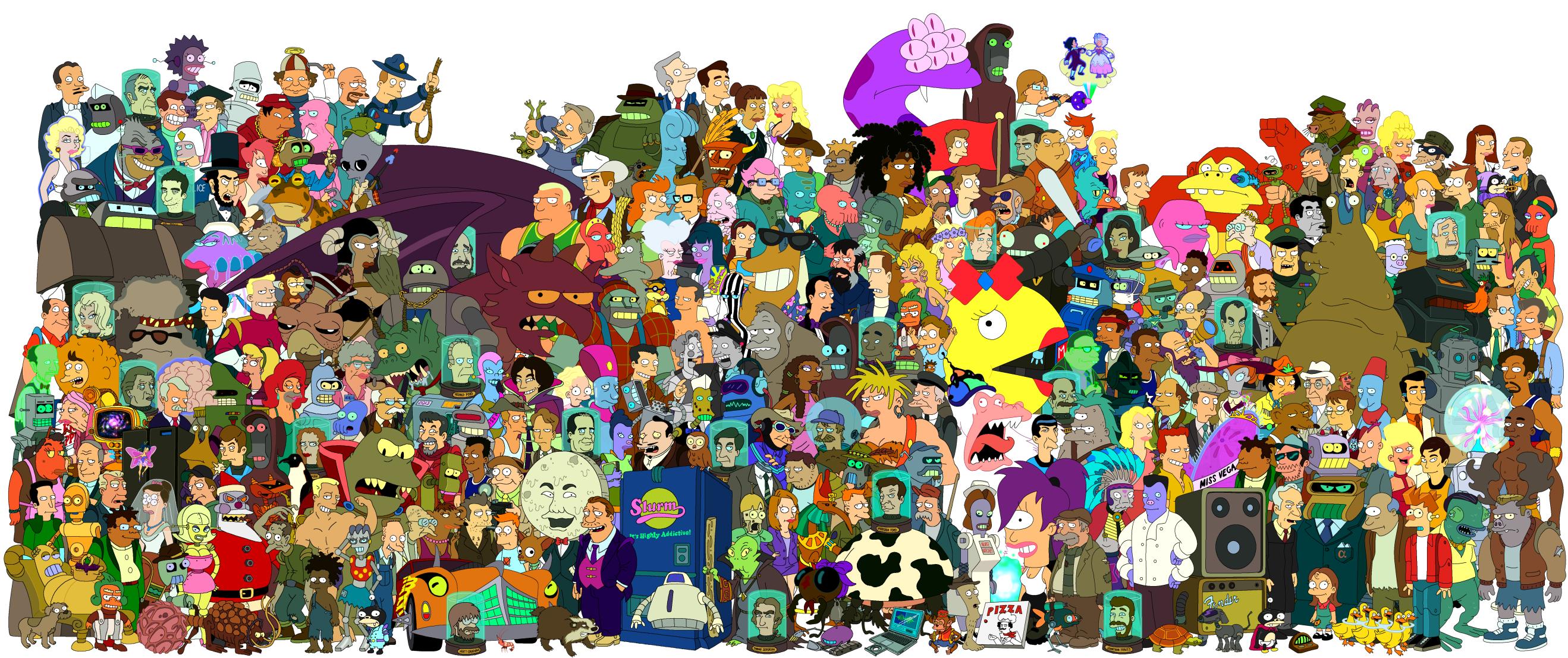 Futurama Full HD Wallpaper and Background Image 2637x1107
