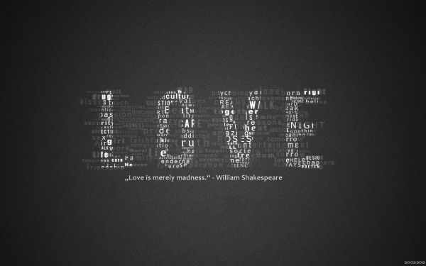 Artistic Love Statement Quote HD Wallpaper | Background Image