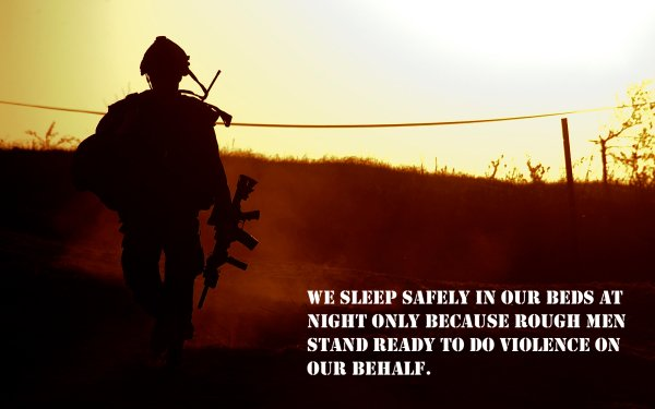 Military Soldier Statement Quote HD Wallpaper | Background Image