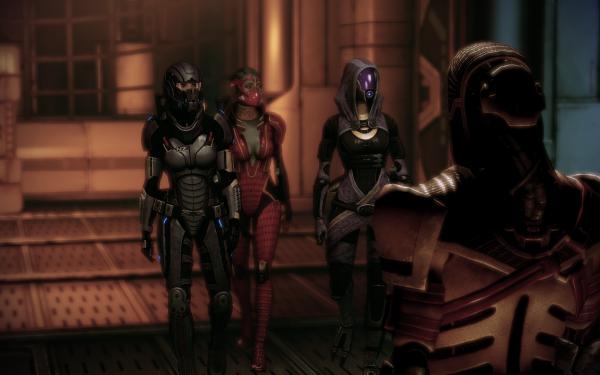 Video Game Mass Effect 2 Mass Effect Samara Tali'Zorah HD Wallpaper | Background Image