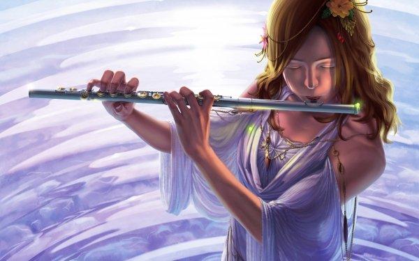 Anime Original Flute HD Wallpaper | Background Image