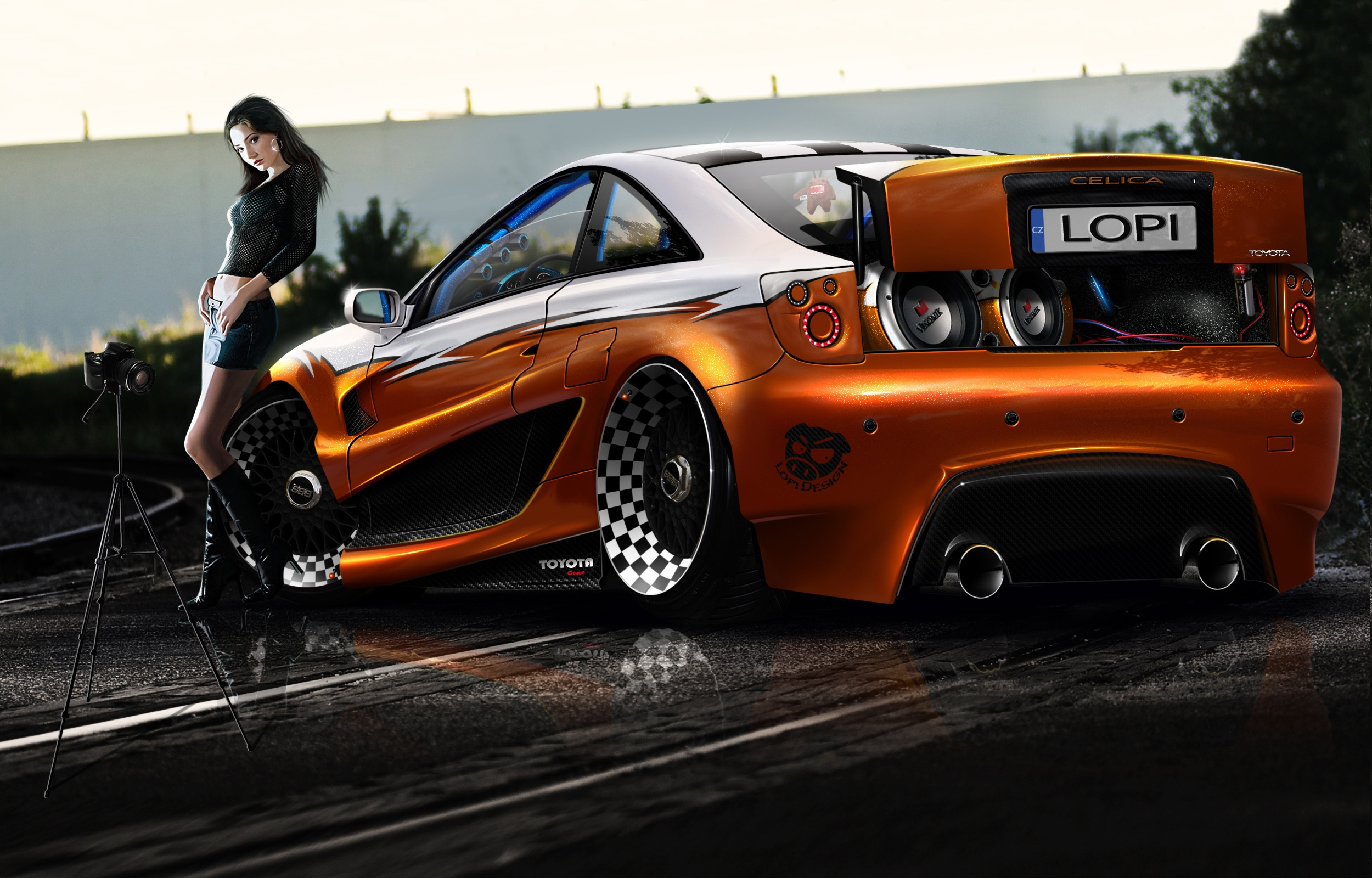 Super Tuned Toyota Celica Full HD Wallpaper And Background