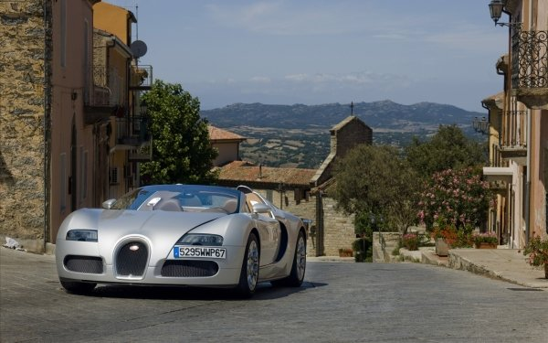 Vehicles Bugatti Car Bugatti Veyron Road Town HD Wallpaper   Background Image