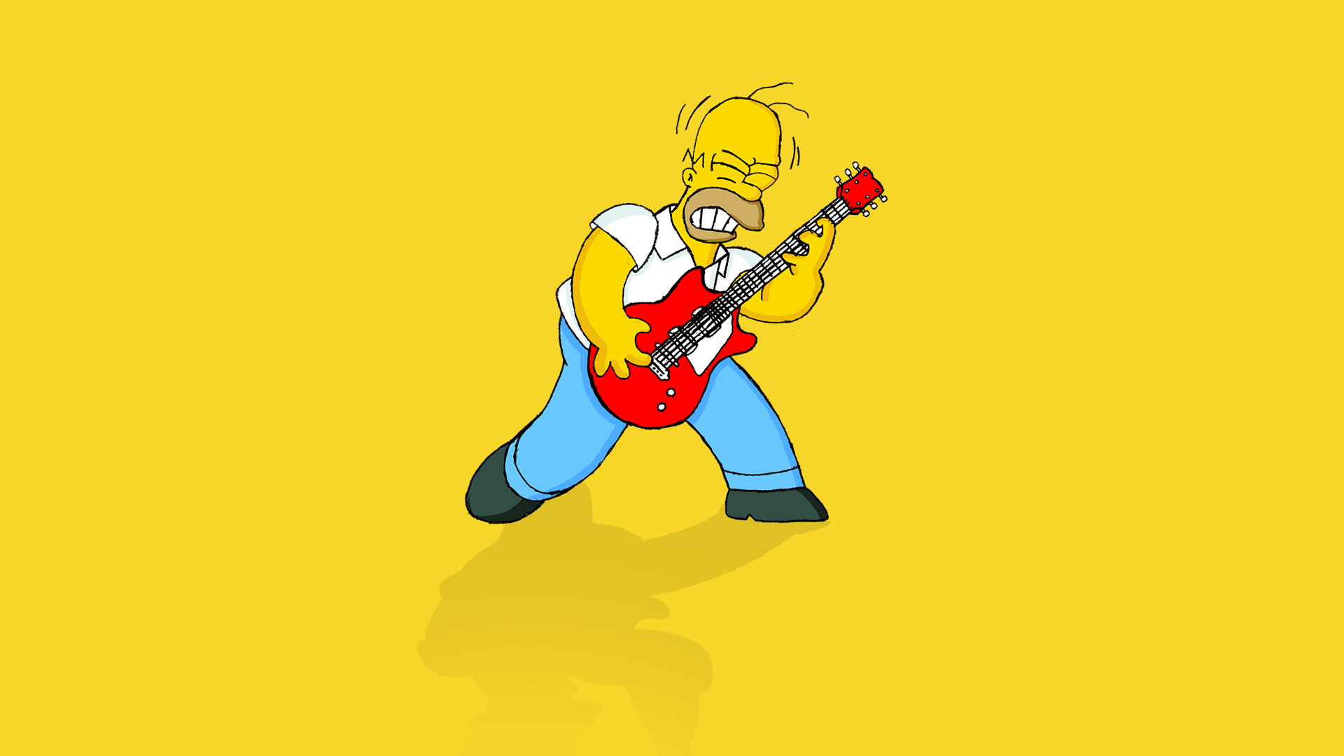 Homer Simpson Guitar Wallpaper