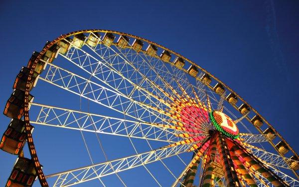 Man Made Ferris Wheel Amusement Park HD Wallpaper | Background Image