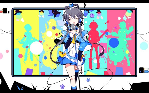 Anime Vocaloid Luo Tianyi Pop Art HD Wallpaper | Background Image