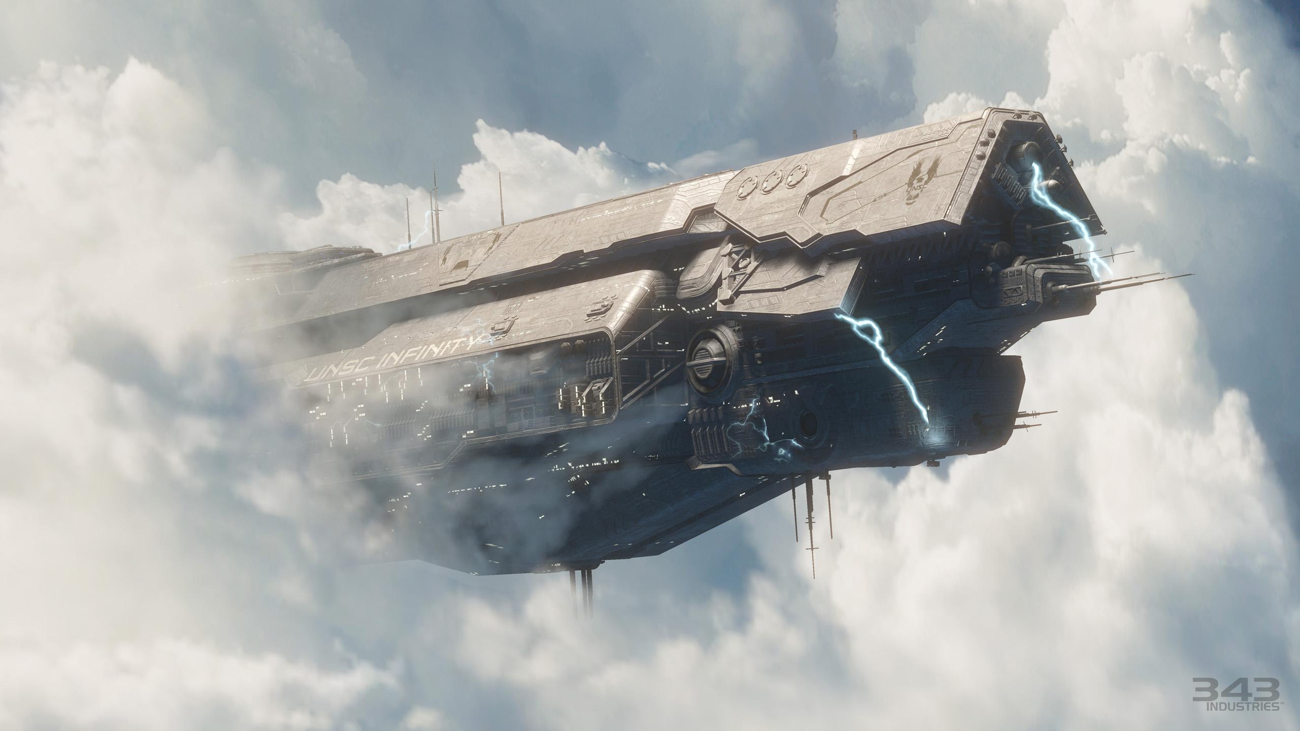 Jeux Vidéo - Halo Science Fiction Navire Masterchief Halo 4 Fond d ...