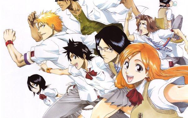 Anime Bleach Orihime Inoue Ichigo Kurosaki Tatsuki Arisawa Uryu Ishida Rukia Kuchiki Yasutora Sado HD Wallpaper | Background Image