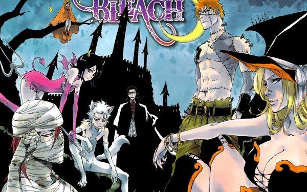 Anime Bleach Byakuya Kuchiki Ichigo Kurosaki Rangiku Matsumoto Uryu Ishida Tōshirō Hitsugaya Renji Abarai Rukia Kuchiki Yachiru Kusajishi Fondo de pantalla HD | Fondo de Escritorio