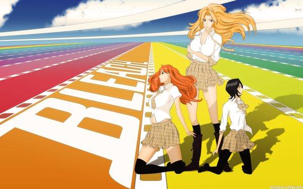 Anime Bleach Rukia Kuchiki Orihime Inoue Rangiku Matsumoto HD Wallpaper   Background Image