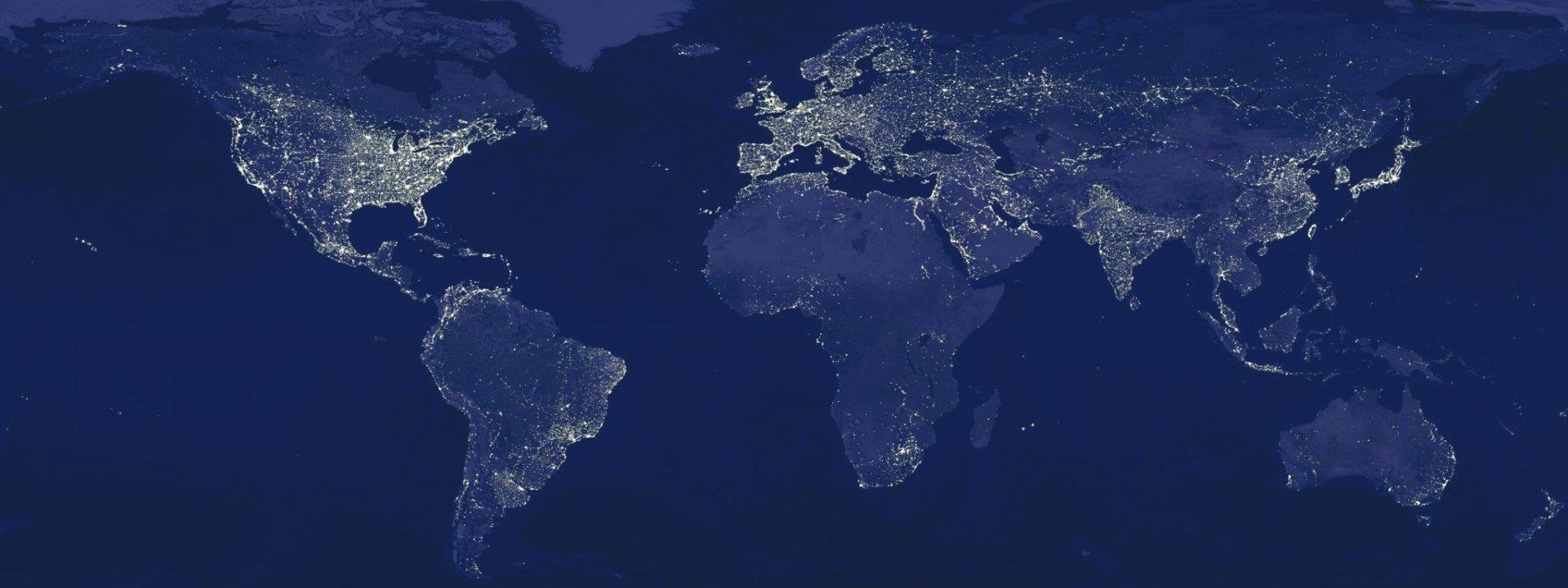 Multi Monitor - Erde/Natur  Karte Wallpaper