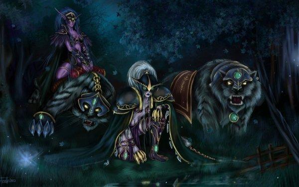 Video Game World Of Warcraft Warcraft Night Elf Maiev Shadowsong HD Wallpaper | Background Image