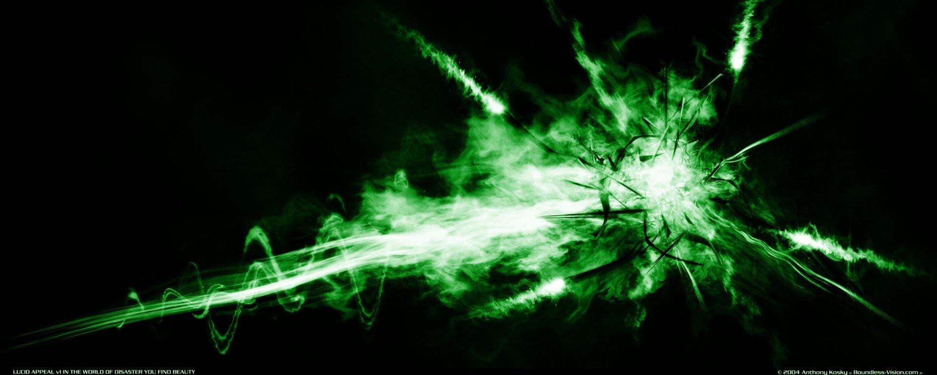 Abstrakt - Grün  Explosion Wallpaper