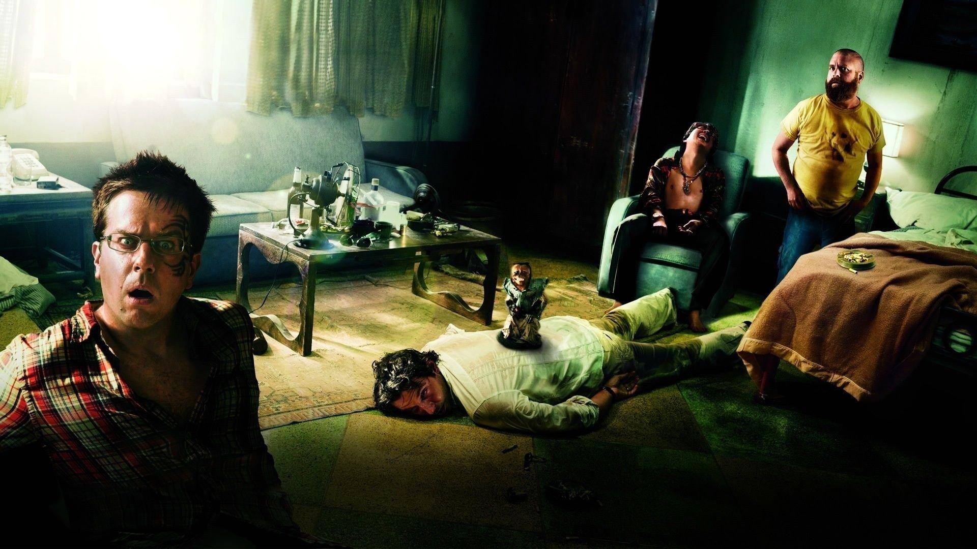 Movie - The Hangover  Ed Helms Zach Galifianakis Ken Jeong Bradley Cooper Wallpaper
