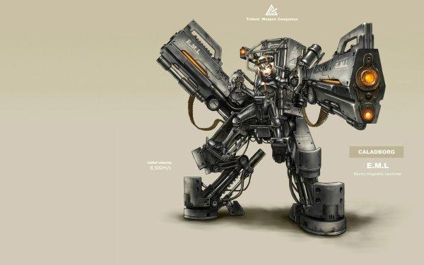 Anime pixiv: Moefication Of Chemicals Gun Robot Creature Original Gia Trident Exoskeleton Moefication HD Wallpaper | Background Image