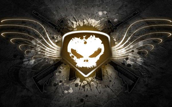 Dark Skull Wings Gun Artistic HD Wallpaper   Background Image