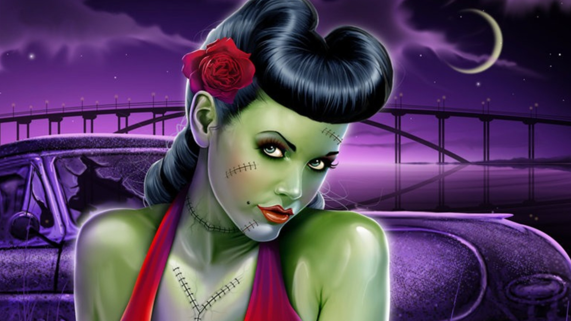 Frauen Full HD Wallpap... Zombie Halloween Facebook Covers