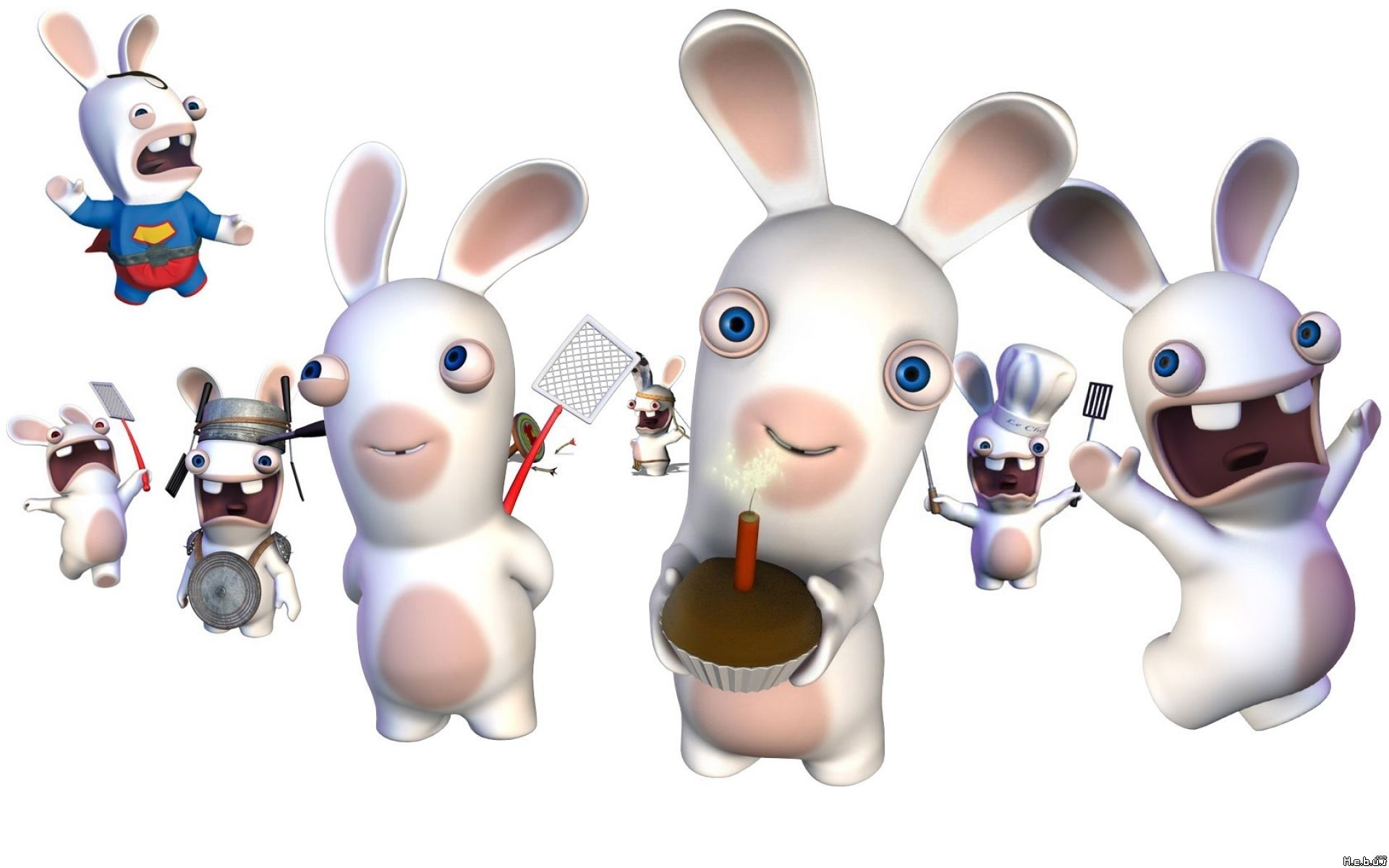 raving rabbids full hd wallpaper and background