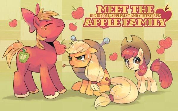 TV Show My Little Pony: Friendship is Magic My Little Pony Apple Bloom Applejack Big Macintosh HD Wallpaper | Background Image