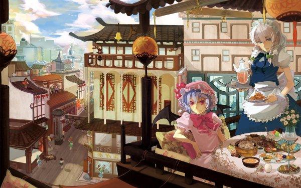Anime Touhou Sakuya Izayoi Remilia Scarlet Hong Meiling Reimu Hakurei Yuyuko Saigyouji Youmu Konpaku Marisa Kirisame Sanae Kochiya Yukari Yakumo Aya Shameimaru Cirno Daiyousei HD Wallpaper | Background Image