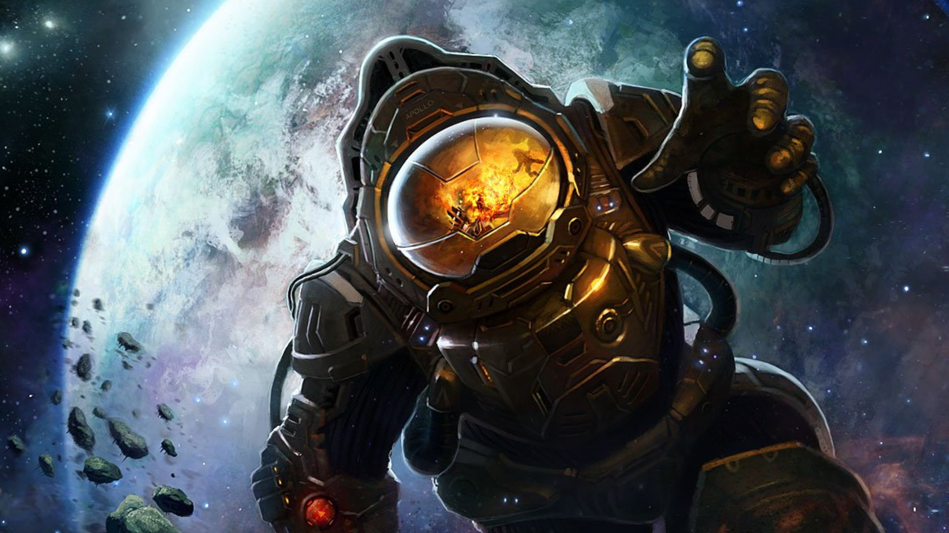cool astronaut in space - photo #8
