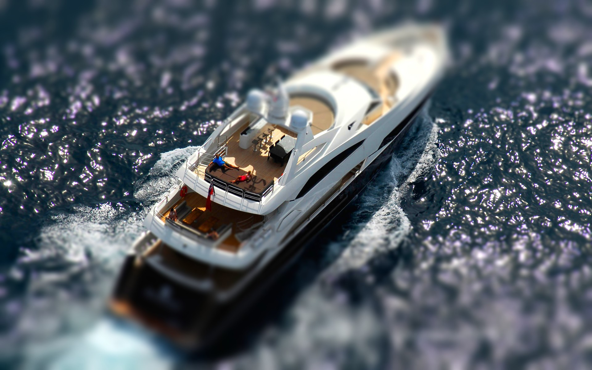 Photography - Tilt Shift  - Ship - Boat Wallpaper