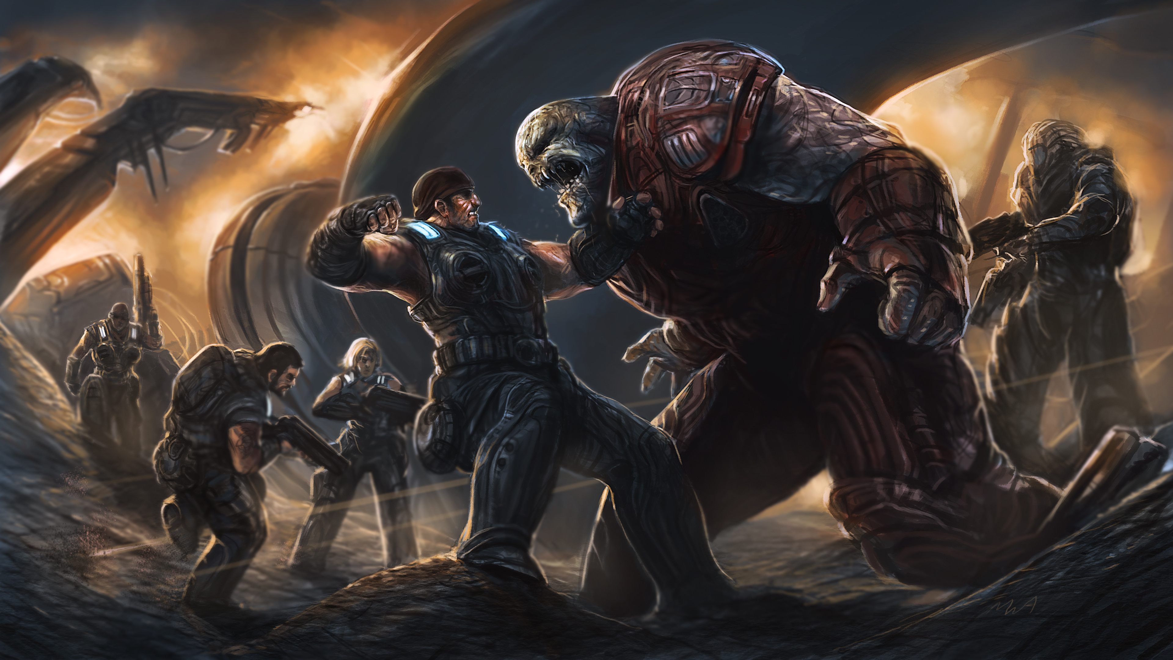 82 Gears Of War Hd Wallpapers Background Images Wallpaper Abyss